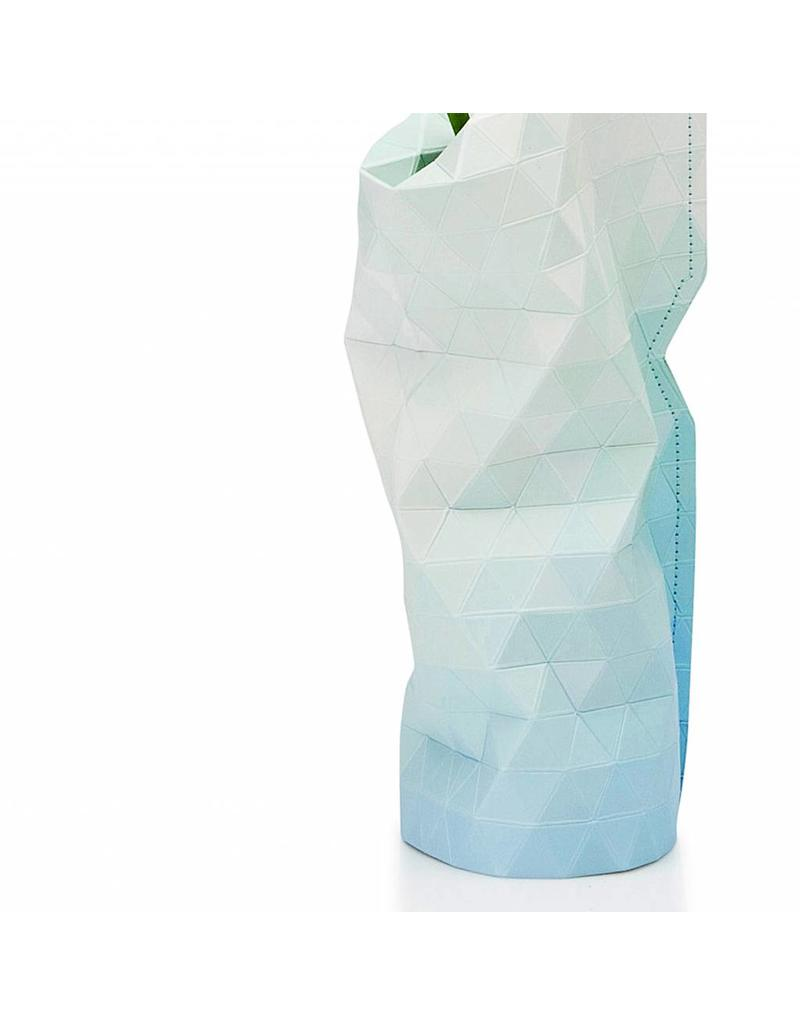 Paper Vase Cover Blue Tones (small)