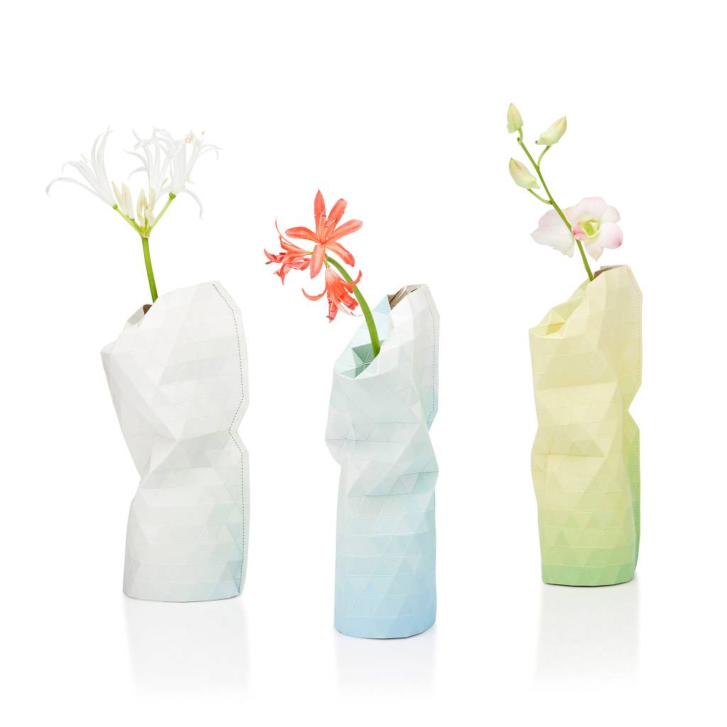 Paper Vase Cover Blue Tones (small)