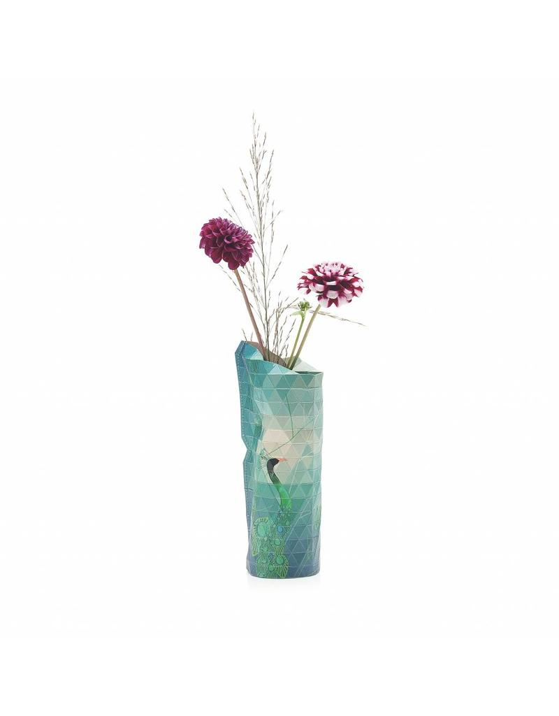 Paper Vase Cover Peacock (small)