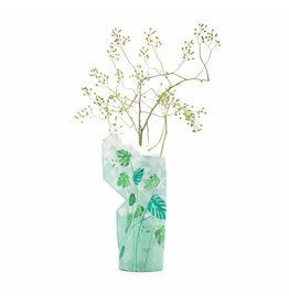 Paper Vase Cover Jungle Leaves