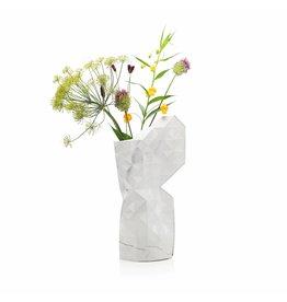 Paper Vase Cover Marble White