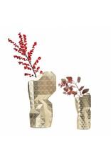 Paper Vase Cover Gold