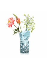 Paper Vase Cover Grey with Silver Segments
