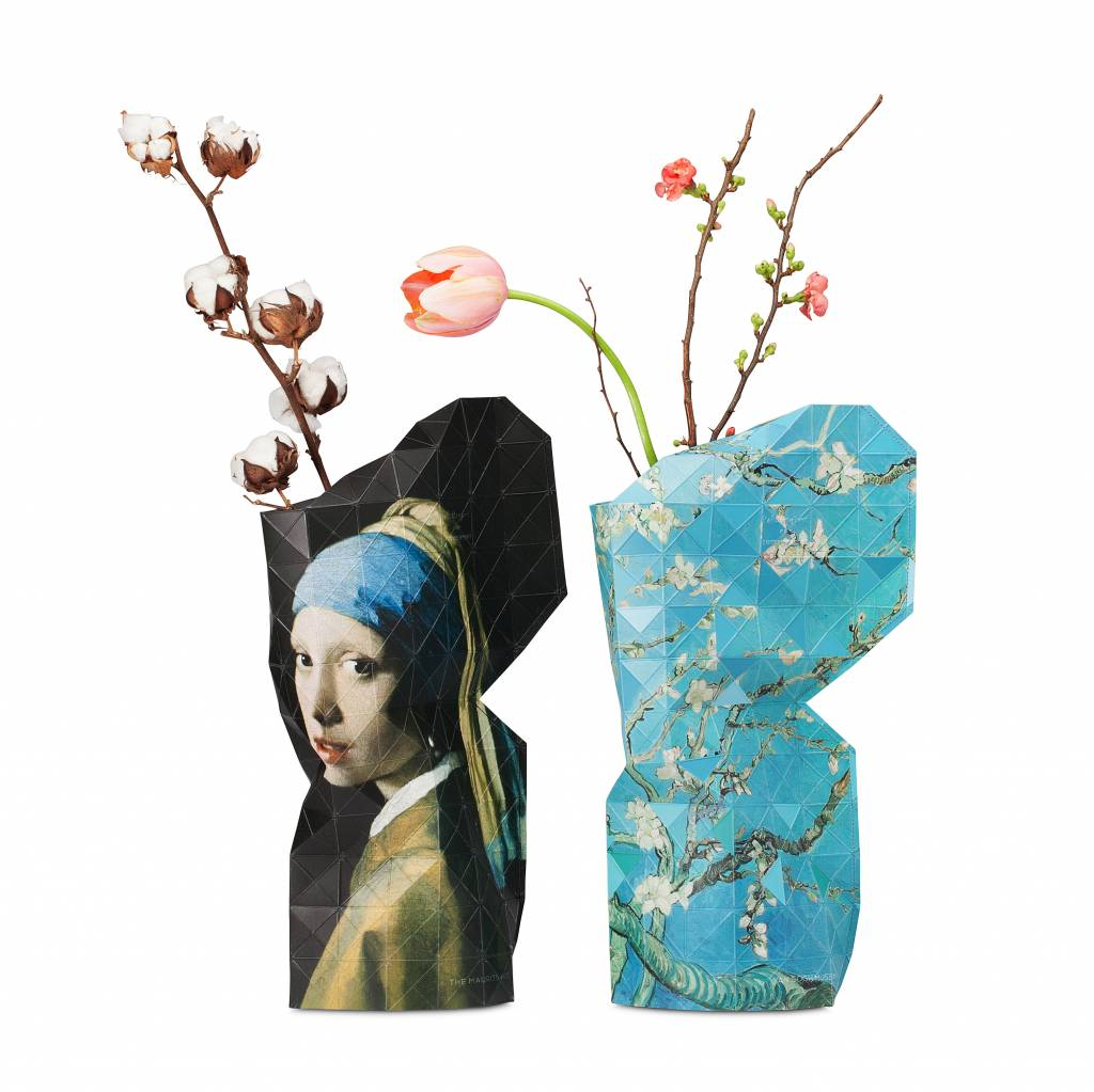 Paper Vase Cover Girl with a Pearl Earring