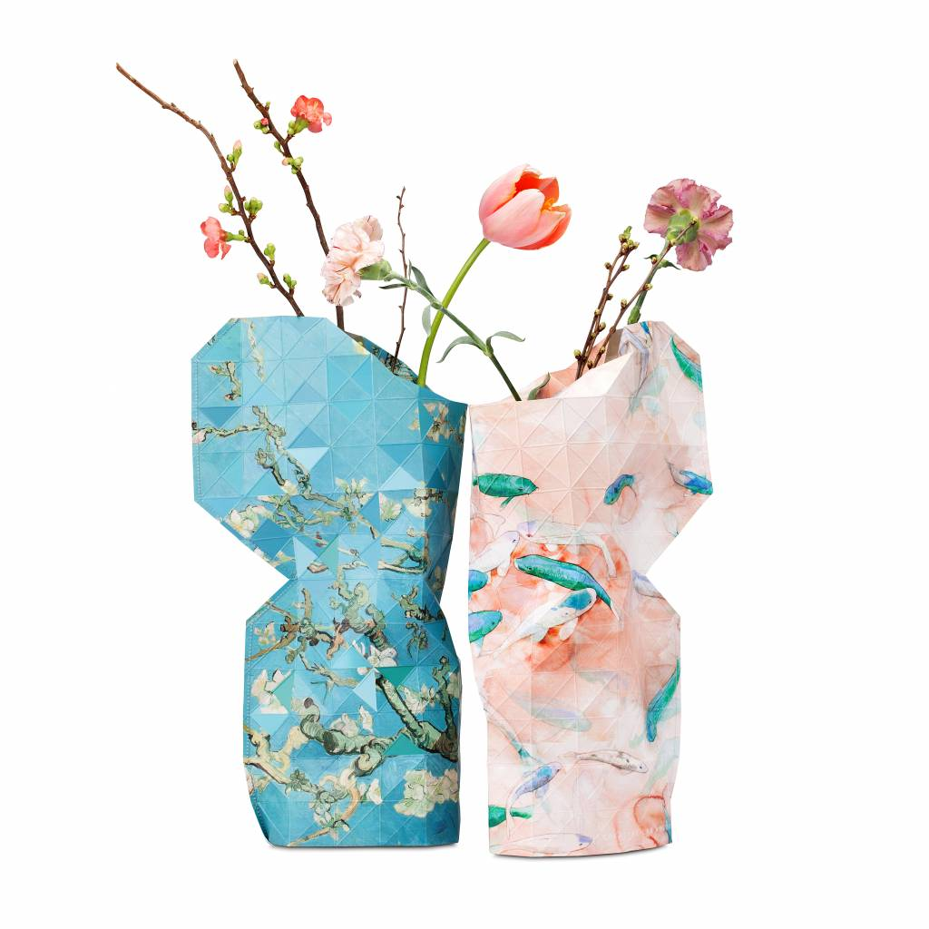 NEW: Paper Vase Cover Pink Fish
