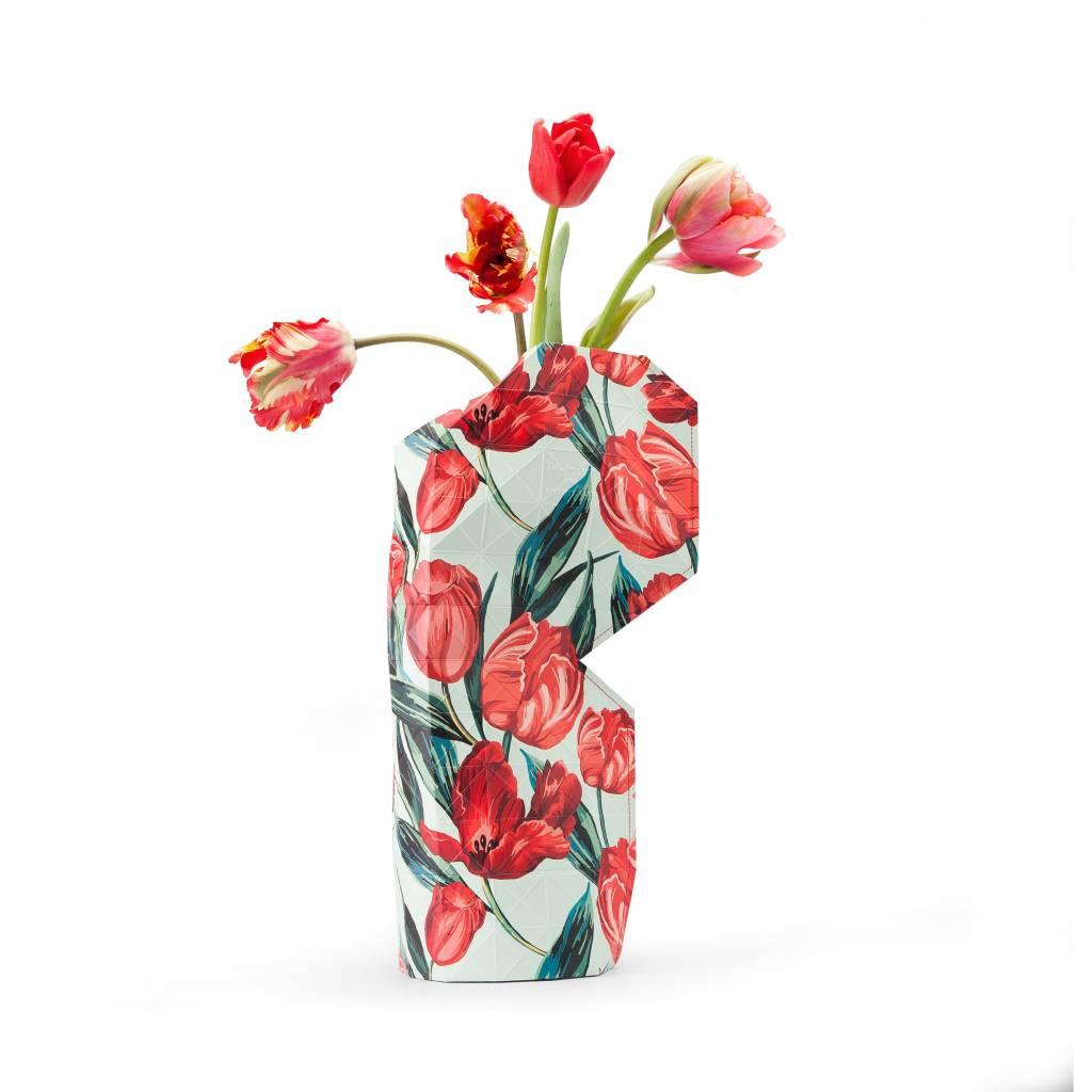 Paper Vase Cover Tulips