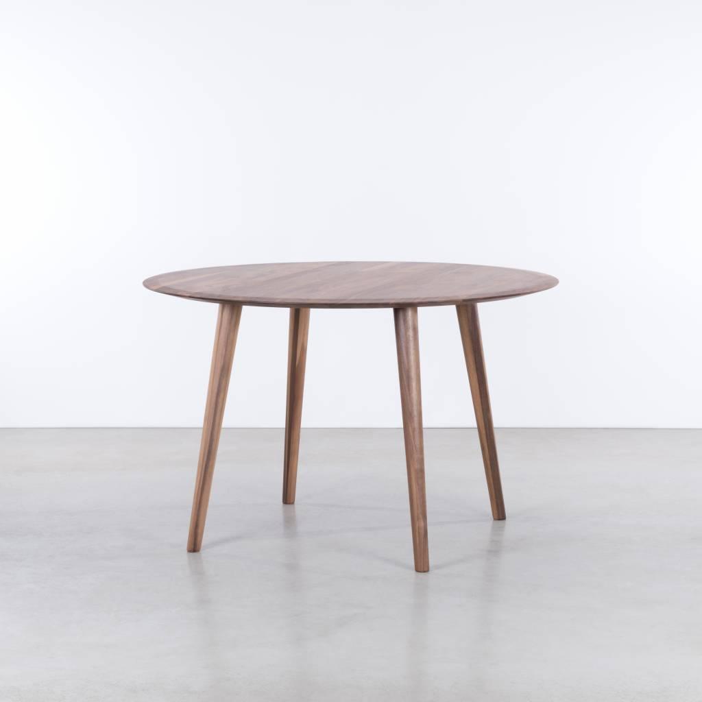 Olger tafel rond walnoot geolied sav kse for Ronde tafel diameter 160