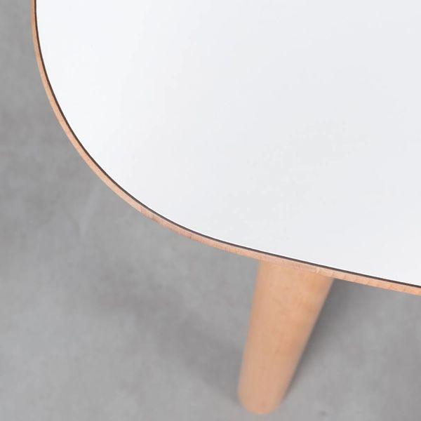 bSav & Okse Tomrer Tafel Beuken met HPL/Fenix blad