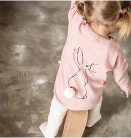 LALA - Meisjes roze longsleeve shirt konijn