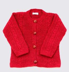 Rood alpaca vestje