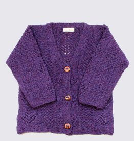 Purple alpaca cardigan