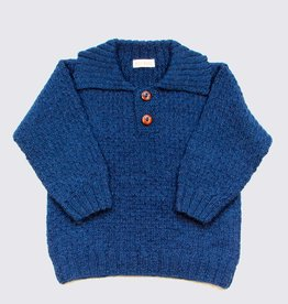 Blue alpaca sweater