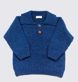 Blue alpaca sweater