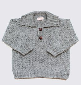 Natural grey alpaca sweater