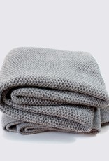 Alpaca baby blanket in light grey