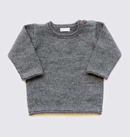 Alpaca sweater in natural grey