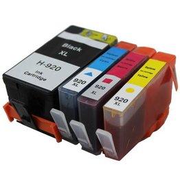 Hewlett-Packerd NuOffice HP 920 XL Set BCYM Color's Compatibel inkt