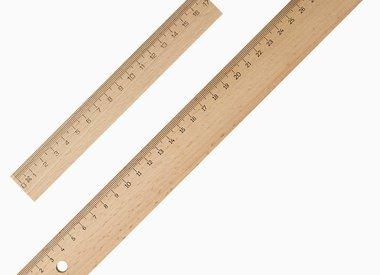 Linialen / geodriehoeken / sjablonen / passers / meten