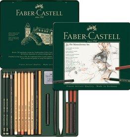 Faber Castell Faber Castell Pitt Monochrome 21-delig medium