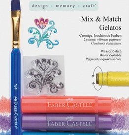Faber Castell Faber-Castell 4 kleuren metallic Gelatos aquarelkrijt