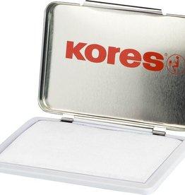 Kores Stempelkussen in metalen box, 7 x 11 cm. Kleur ongedrenkt.