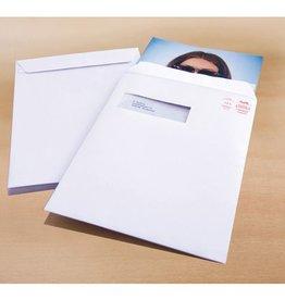 Raadhuis akte envelop met venster Raadhuis 229x324mm C4 wit met plakstrip doos a 250 stuks