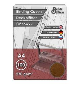 ProfiOffice schutbladen ProfiOffice A4 270gr. karton 100 stuks leer     bruin