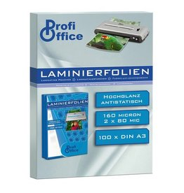 ProfiOffice lamineerhoes ProfiOffice 80 micron 100 vel A3 303x426mm