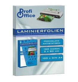 ProfiOffice lamineerhoes ProfiOffice 80 micron 100 vel A4 216x303mm