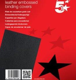 5 Star 5Star™ Omslagen met lederprint 100 A4 DEKBLAD ZWART LEDERL
