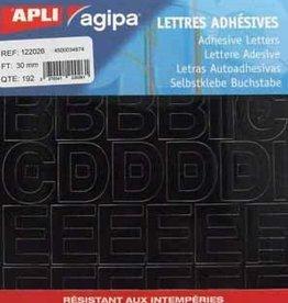 Agipa Agipa etiketten cijfers en letters 30MM ZWART