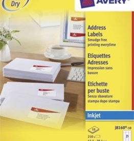 Avery AVERY Witte etiketten inkjet QuickDry™ J816010