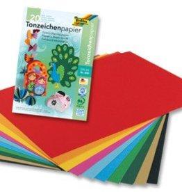 Folia Folia gekleurd tekenpapier 20V A4 ASS