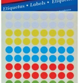 Apli Apli ronde etiketten in etui 3BL.APLI 2092 8MM ASSORTI