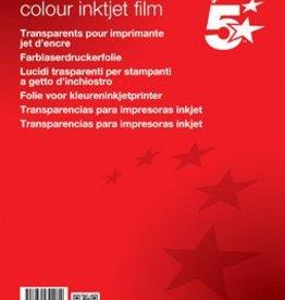 5 Star 5Star transparanten voor kleureninkjetprinters 50 stuks