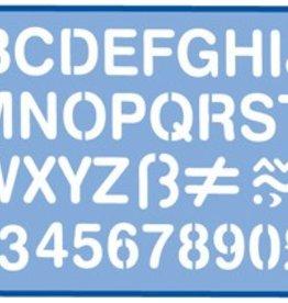 Helix Helix Sjabloon letterhoogte: 30 mm, etui met 1 stuk: cijfers en hoofdletters