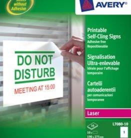 Avery Avery ultra-afneembare meldingsetiketten 190X135 10X