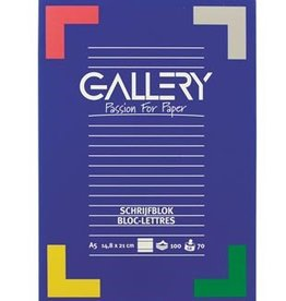 Gallery Gallery schrijfblok A5 70G100V L
