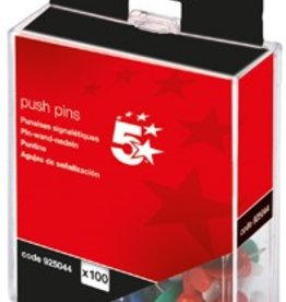 5 Star 5Star™ push pins AST OPAQUE PK100