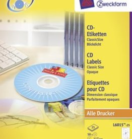 Avery Zweckform AVERY Etiketten voor CD 117MM 50 stuks