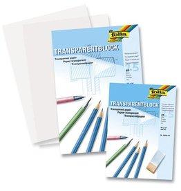 Folia Folia transparant papier A4 blok á 25 vel