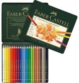 Faber Castell Faber-Castell Polychromos kleurpotloden etui à 24 stuks