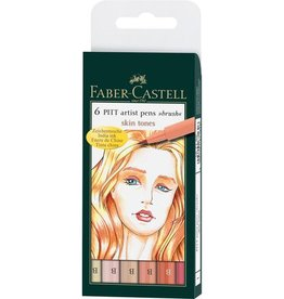 Faber Castell Faber Castell Pitt Artist etui a 6 stuks huidskleur Pen Brush