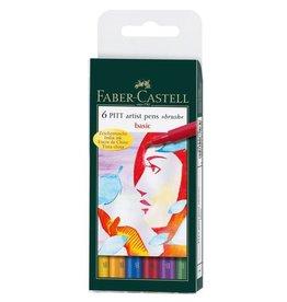 Faber Castell Faber Castell Pitt Artist Pen 6-delig etui Basic