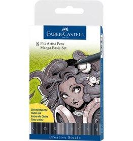 Faber Castell Faber Castell Pitt Artist Pen Manga 8-delig etui Basic