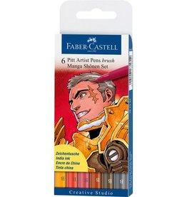 Faber Castell Faber Castell Pitt Artist Pen Manga 6-delig etui Shônen