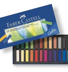 Faber Castell Faber Castell halve lengte etui à 24 stuks pastelkrijt