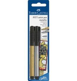 Faber Castell Faber Castell Pitt Artist Pen blister met goud en zilver tekenstiften