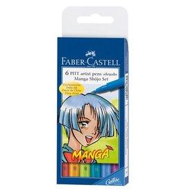Faber Castell Faber Castell Pitt Artist Pen Manga 6-delig etui Shôjo tekenstiften