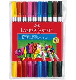 Faber Castell Faber Castell Duo etui met 10 stuks viltstiften